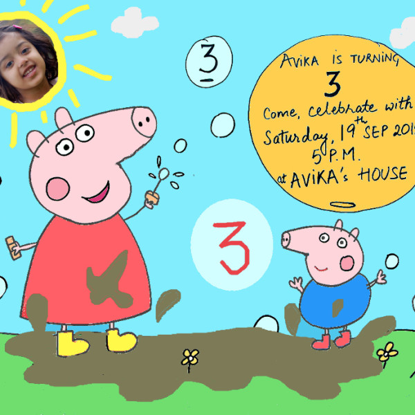 Peppa Pig Theme Birthday