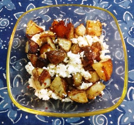 Baked Potato and Paneer Salad