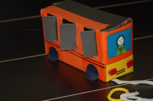Toy Bus From Shoe Box