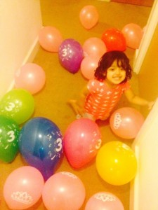 Involving kids in Birthday Decorations