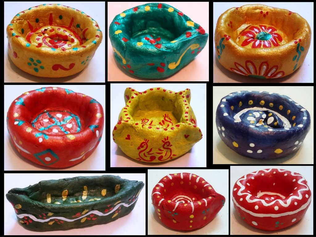 handmade diyas