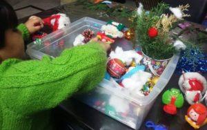 Christmas exploration bin