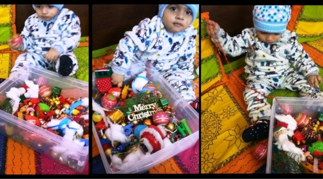 Christmas Sensory Bin for Toddlers